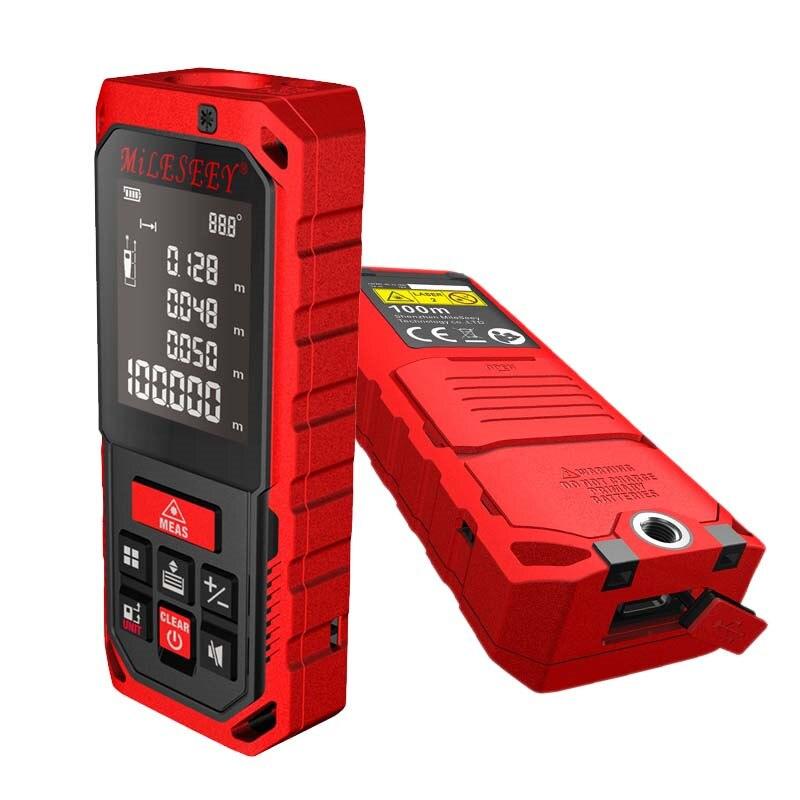 S7 Mileseey s7 laser distance meter 131ft 60m Mini Handheld optical laser Rangefinder binoculars case tape measure laser<br>