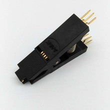 BIOS SOP8 SOIC8 Bent Original Test Clip Pin Pitch 1.27mm For EPROM Programming Clip Suitable for Dupont Line(China)