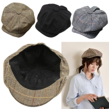 Men Women Newsboy Driving Flat Gatsby Tweed Sun Hat Country Beret Baker Cap painter caps octagonal 2016 fashion new B1(China)
