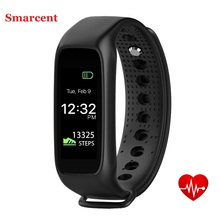 Smarcent L30t Bluetooth Smart Band Dynamic Heart Rate Monitor Full color TFT-LCD Screen Smartband for Apple IOS Smartphone
