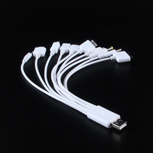 Universal 10 in 1 USB Charger Cable Charging Cord For Samsung Blackberry MP3/4 Mobile phone