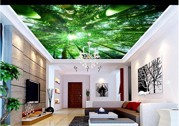 3d wall murals customize HD bamboo 3d wallpaper for ceiling bedroom living room ceiling stereoscopic Bar KTV ceiling wallpaper<br><br>Aliexpress