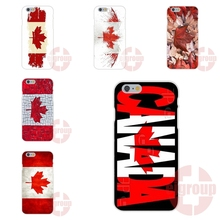 Canada FLAG For iPhone 4S 5S SE 6S 7S Plus For Galaxy A3 A5 J3 J5 J7 S4 S5 S6 S7 2016 Soft TPU Silicon Fashion Cell Phone Case