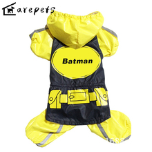 Waterproof Reflective Pet Clothes Hot Sale Batman Costume with Night Light for Dogs Poodle,Pomeranian,Schnauzer