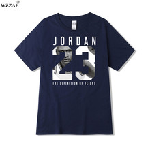 WZZAE 2017 New Brand Clothing Jordan 23 Men T-shirt Swag T-Shirt Cotton Print Men T shirt Homme Fitness Camisetas Hip Hop Tshirt