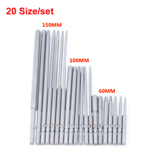 20pcs/lot Magnetic Hexagon Screwdriver Bit S2 Steel 801 5mm Round Shank Screwdrier Drive Power Drill Bit 60mm/100mm/150mm Length(China)