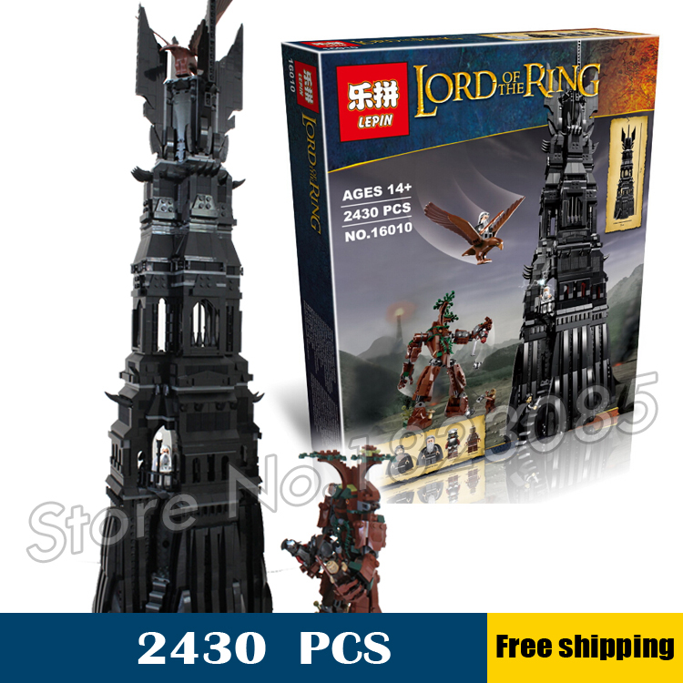 2430pcs 16010 Lord of the Rings Tower of Orthanc DIY Model Building Blocks Minifigure unique Gifts Set Toys Compatible with Lego<br><br>Aliexpress