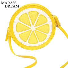 Mara's Dream Female Fashion Personality Round Lemon Shoulder Bag 2017 New Arrival