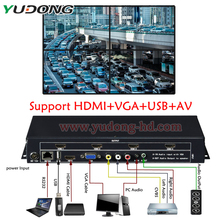 Video Wall Controller HDMI VGA AV USB Processor 1X4 FOUR images stitching image processor 4 TV