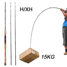 Superhard Fishing Rod Casting 2.4m H/XH Carbon Fiber Baitcasting Rod Canne A Peche Surf Casting Power 15kg Boat Fishing Tackle