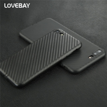 Lovebay Phone Case For iPhone 7 7 Plus Luxury Carbon Fiber Fashion Shockproof Soft TPU For iPhone 7 Phone Case Back Cover Bags