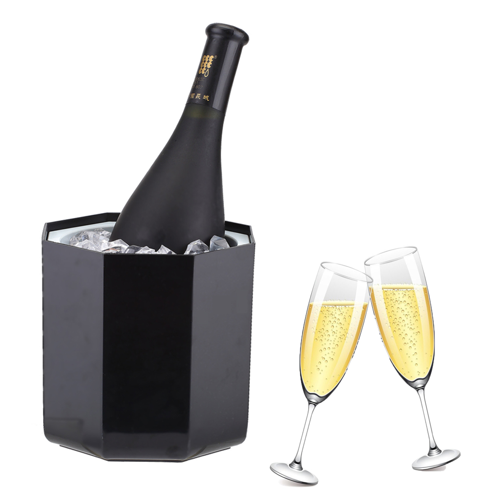 Smad New Ice Bucket High Quality Mini Bar Wine Cooler Chiller Party Portable Champagne Ice Can Keeper Octagon Design <br><br>Aliexpress