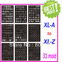High Quality Christmas Holiday XL Medium Size Stamping Image Konad Plate Nail Art Large BIG Template DIY XXL stamping art