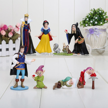 3-8cm PVC Princess Snow white Snow White and the Seven Dwarfs Queen Prince Figure Play
