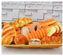 Artificial diverse styles fake breads simulation food lifelike toast model Miniatures bakery furnishing articles bread 16pcs/set
