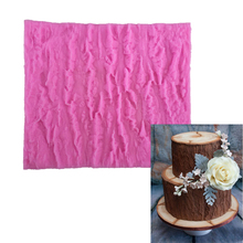 3D Tree Bark Shape Fondant Cake DIY Mold Food Grade Silicone Mould Cake Decoration Fondant Sugarcraft Baking Decorating Tool(China)