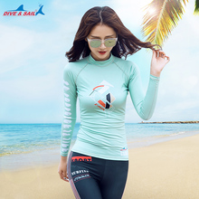 Women's Long Sleeve Rashguard Swimwear UPF 50+ Sun Protection Swim T shirt Tee Rash Guard for Beach Pool Water Sports