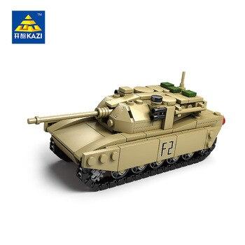Diy tanque de bloques huecos de eductional juguetes para niños regalos de navidad 4in1 del ejército militar bloques compatibles con las principales marcas
