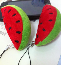 1Piece Super Kawaii Mini 6CM Watermelon DOLL Keychain DOLL Plush Stuffed TOY Phone Strap Charm TOY DOLL Wedding Bouquet TOY DOLL