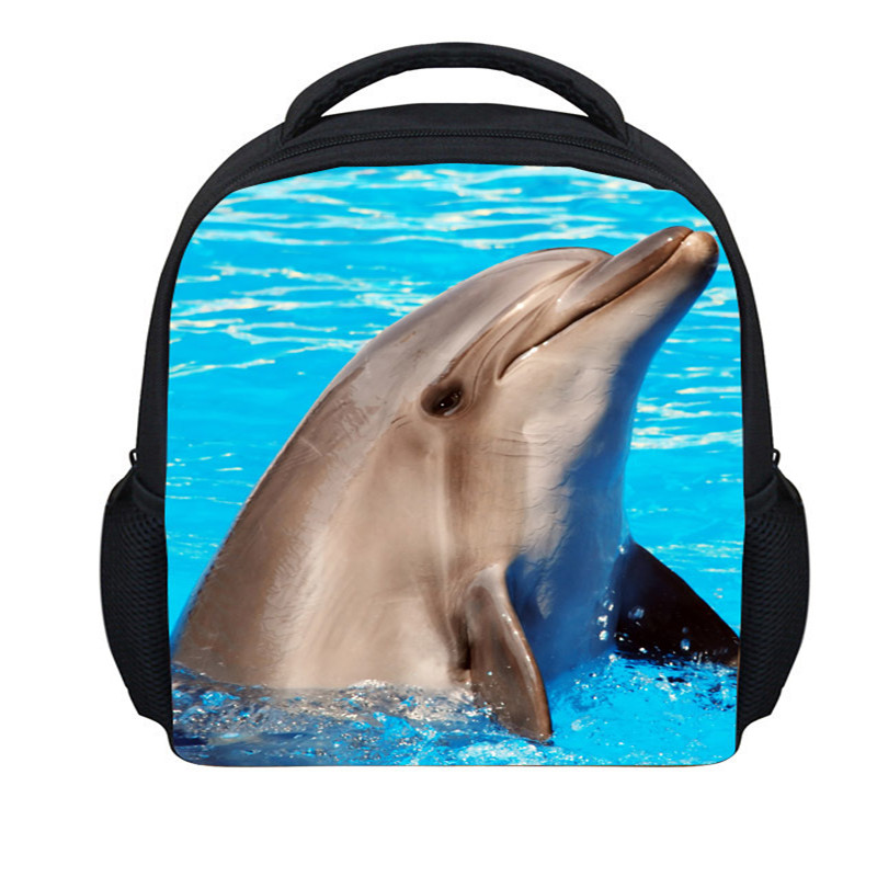 FORUDESIGNS New Fashion 3D Zoo Animals Backpack For Teenager Cute Dolphin Children School Backpacks Leopard Printing Backpack<br><br>Aliexpress