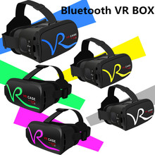 "2017 NEW Bluetooth VR BOX 3D Virtual Reality Glasses Google Cardboard 3D Movie Game for ios/Android 4.7""-6.0"" Smart phone"
