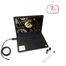 Portable 2/5/7/10m OTG USB PC Endoscope with 7mm 6LED Waterproof Lens PC surveillance camera Inspection Borescope for PC Laptop