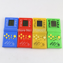 free shipping Classical Game Players Handled Tetris game console for Kids High Quality Children Educational Toys WJ003