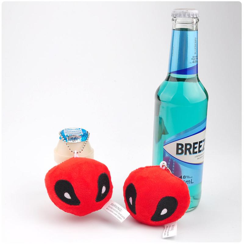 X-Men Deadpool Plush Toys Movie & TV Super Heroes Deadpool Key Bag Pendants Dolls Cosplay Promotional Gift 10pcslot 7cm (4)