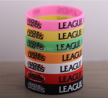 Wholesale 50pcs/lot LOL, League of Legends Wristband, Debossed Silicon Rare Glow Bracelet, Promotion Gift, Friends Gifts(China)