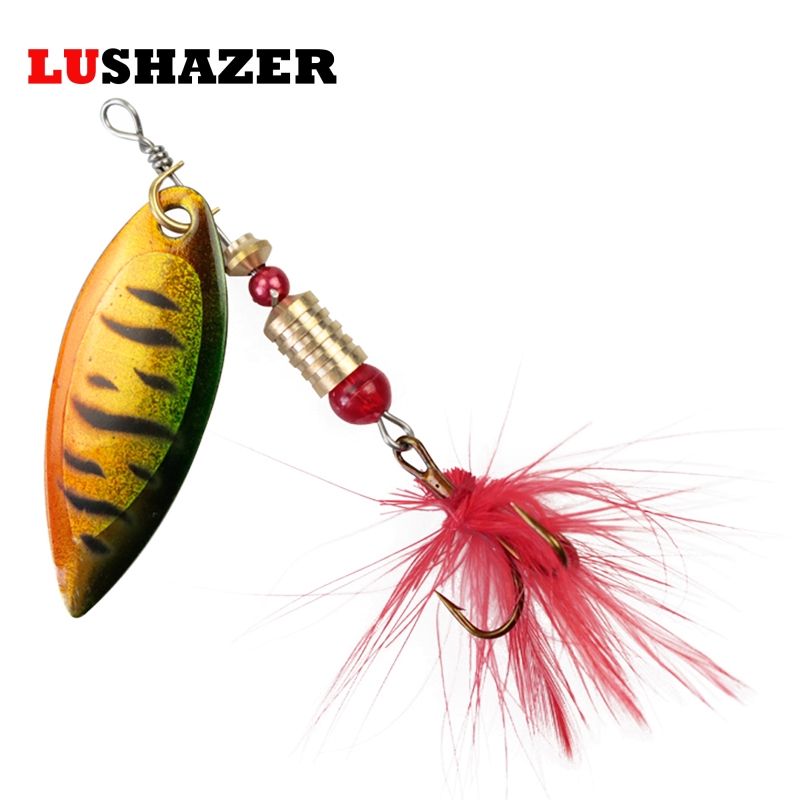LUSHAZER fishing spoon lures spinner baits 3g-6g metal baits spinnerbait fishing wobbler isca artificial hard lure free