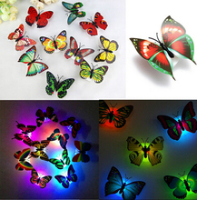 Wholesale New Style  Color  Toy  Flashing Lamp ABS LED Butterfly Night Artificial Toys