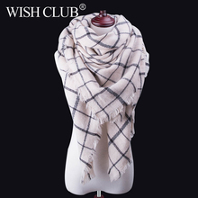 SIMPLESHOW Fashion Plaid Winter Scarves For Women Scarf Warm Scarf Luxury Brand Blanket Wraps Female Scarves And Shawls