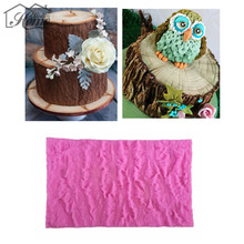 Tree Bark Line Texture Silicone Mold Fondant Chocolate Mould For Cake Decorating Tools Pudding Cookie Soap Mold Baking Tools