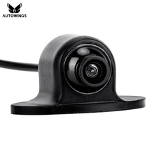 170 Degrees Wide View Angle HD CCD Mini Waterproof Universal Rearview Front Side Car Parking Backup Reverse Rear View Camera(China)