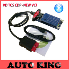 2pcs/lot+DHL Free ship! With Bluetooth FUNCTION new vci obd2 diagnostic tool for cars and trucks vd TCS CDP Pro Plus code reader(China)