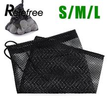Relefree Nylon Golf Ball Bag Mesh Nets Bag Pouch Golf Table Tennis 50/25/15 Balls Carrying Holder Storage Bag Golf Accessories(China)