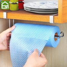 Stainless Steel Kitchen Cupboard Disposable Wiping Cloth Hanger Cabinet Door Tissue Paper Towel Hanging Organizer Rack