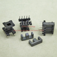 20sets/lot EE16 PC40 Ferrite Magnetic Core and 5 Pins + 5 Pins Top Entry Plastic Bobbin Customize Voltage Transformer