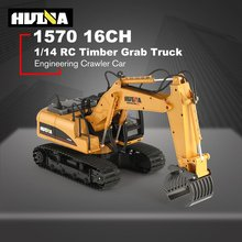 HUINA 1570 1/14 2.4G RC Timber Metal Grab Wood 16ch Engineering Crawler Truck Toy RTR Car Construction Vehicle With Light Toys(China)