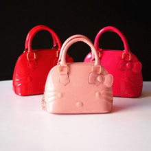 New Arrival  Baby Girls  hello kitty Bags Girl Accessories Kids Handbags Children PU Party Shell Bag Shoulder Bucket bags