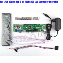 5 Pcs HDMI CVBS RF USB VGA Audio Video TV Controller Board + 40P Lvds Cable Kit for Raspberry PI 1600x900 2ch 6 bit LCD Display