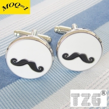 Round Beard Cufflink Cuff Link 1 Pair Free Shipping Promotion(China)