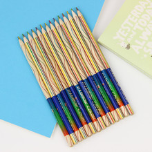 Buy 6PCS/Lot Rainbow Pencil 4 1 Colored Pencils DIY Drawing Painting Stationery Child Learning Gifts for $1.39 in AliExpress store