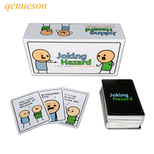 Hot High Quality New Arrival Cards Games Joking Hazard Board Games For Family Fun Party For Fidget Playing Cards Jokes  qenueson