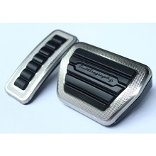 2 PCS/SET SV Style Silver Brake Pedal Accelerator Pedal for Land Rover Range Rover Vogue 2014 2015 2016