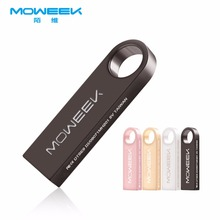 Moweek USB Flash Drive M09 2017 new metal usb stick 64g 32g 16g pen drive Real Capacity 8G 4G usb 2.0 flash disk free shipping(China)