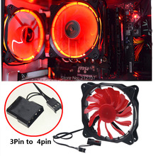 5Pcs Red Light 120MM 12cm 120mm x 25mm DC 12V 3Pin 4Pin PC Computer LED Cooling Fan