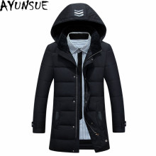 AYUNSUE Casaco Masculino Warm Winter Male Jackets Plus Size White Duck Down Coats Casual Black Hooded Men's Down Jacket WXF148