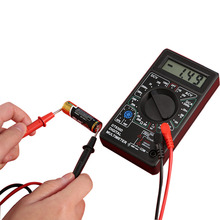 1pcs New Style Accessories Digital Multimeter with Buzzer Voltage Ampere Meter Test Probe DC AC LCD