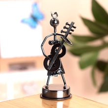 Styling Violin creative home decoration ornaments Iron Music Man Home Decoration Metal Crafts Creative Gifts vintage bar decor
